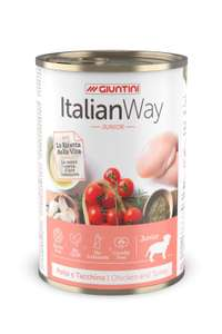 Italian Way Wet Dog Food Junior Chicken and Turkey400g (Pack of 12) - £7.19 (Prime) £11.68 (Non Prime) @ Amazon