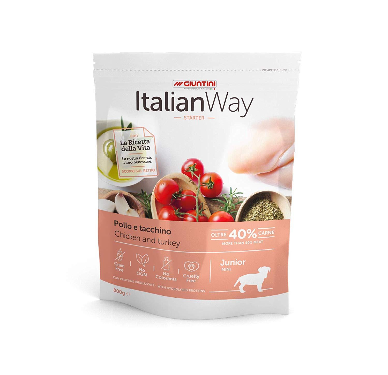 Italian Way Dog Food Junior Starter Chicken and Heel - Mini - 6 Bag - £13.90 (prime) £18.39 (Non Prime) @ Amazon