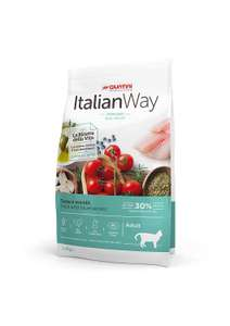 talian Way Sterilized Cat Food Ideal Weight Trout and Blueberries - Adult - 4 Bags - £15.94 (Prime or + £4,49 Non Prime) @ Amazon