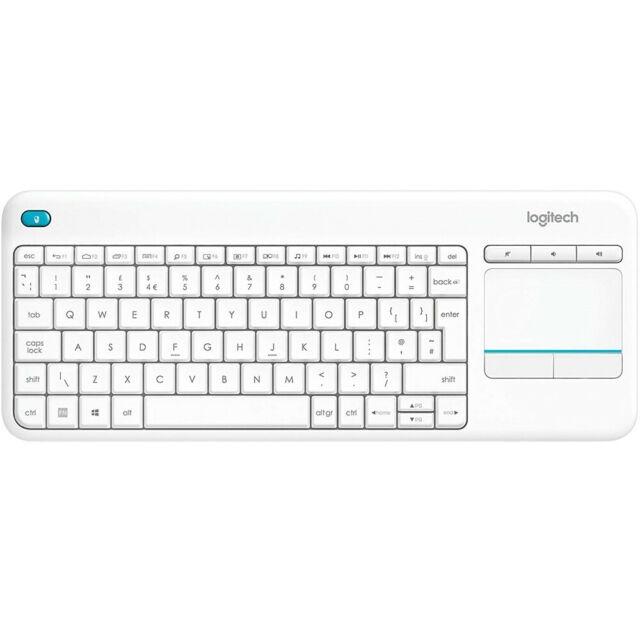 White Logitech K400 Plus Wireless Touch Keyboard Windows, Android & Chrome £17.99 Prime / £16.19 Student Prime (+£4.49 non Prime) @ Amazon