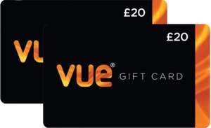 £40 Vue Cinema Gift Cards Multipack (2 x £20) at Costco (Online you have to buy 2 sets £69.98) - £34.99