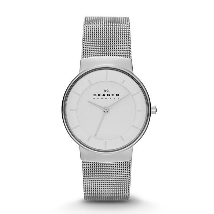 """""""Nicoline"""" Women's Steel Mesh Watch @ skagen using code - £52.70"""
