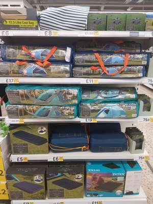 Various camping gear all half price at Tesco instore