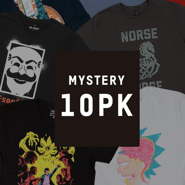 Mystery Geek T-Shirt - 10-Pack plus free Z-Box - £29.99 + 99p postage @ Zavvi