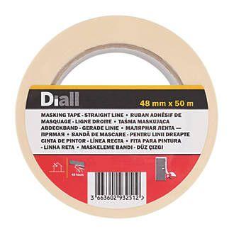 Diall Masking Tape 50M X 48MM 99p @ Screwfix