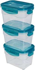 AmazonBasics Air-Locked 3-Piece Food-Storage Set, 3 x 1.0 Litre now £4.31 add-on item at Amazon