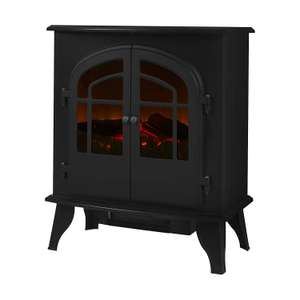 Warmlite 2-Door Log Effect Stove Fire, 2000 W, Black now £52.42 delivered at Amazon
