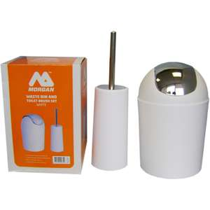 Waste Bin and Toilet Brush Set - White £2.95 @ Homebase. Also available in Black. More in OP