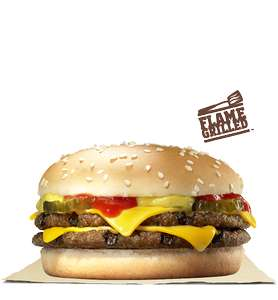 2 Double Cheeseburgers and 2 Small Fries £3.49 via Burger King App
