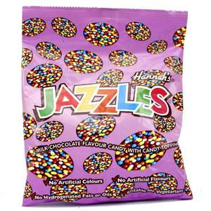 3 Bags Jazzles Milk Chocolate or White 60G £1 @ Poundstretcher