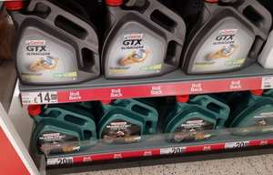 Castrol oil 4 ltr from £14.00 in store at asda