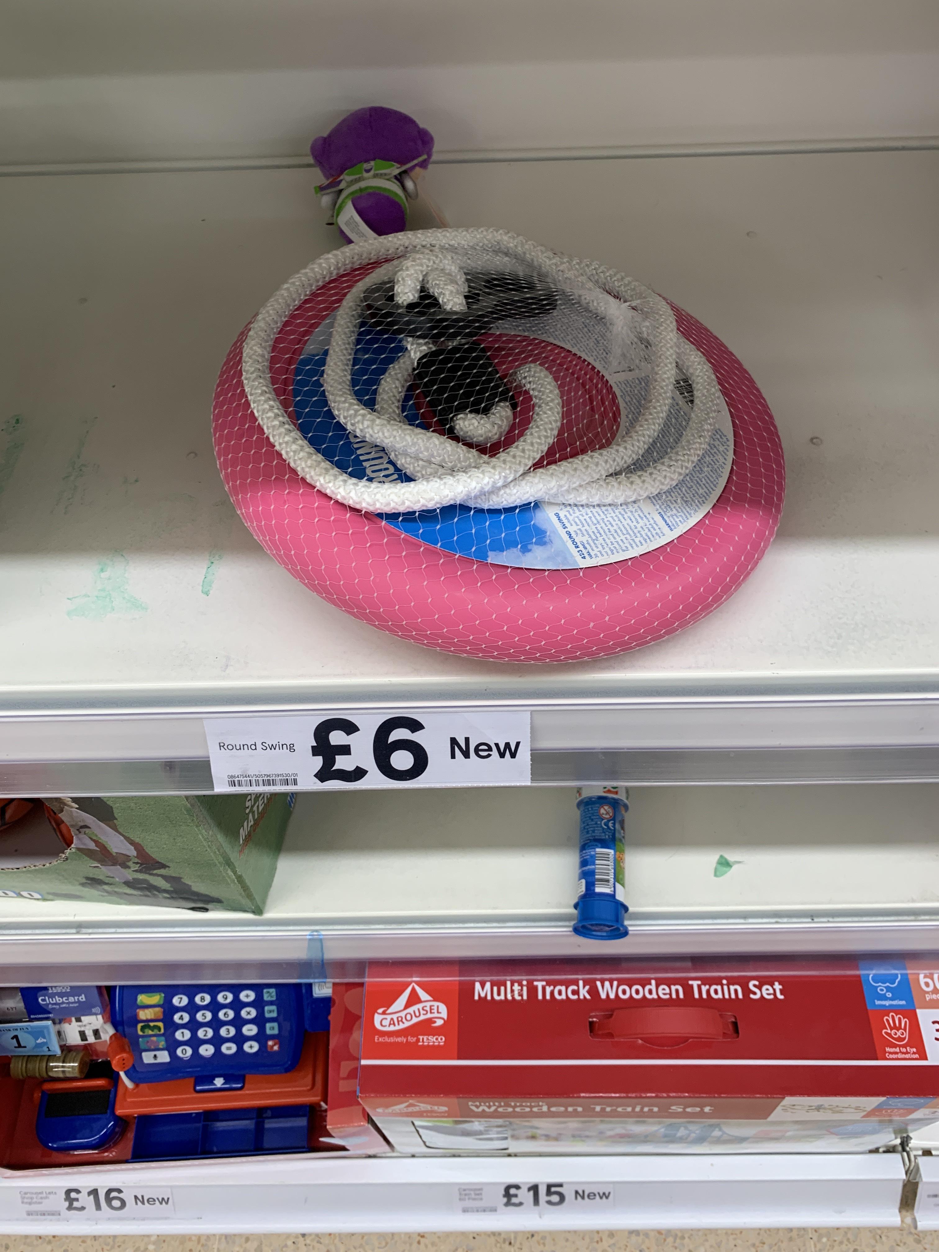 Child's round swing seat £1.50 instore @ Tesco