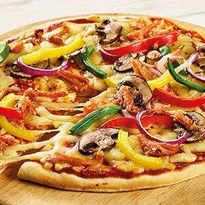 Any 14 inch Pizza & Large Salad Bar Tray £5 (saving £2.50) @ Morrisons instore