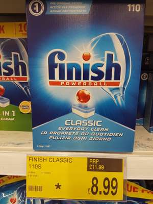 Finish dishwasher tablets 110 down to £8.99 at B&M Bargains
