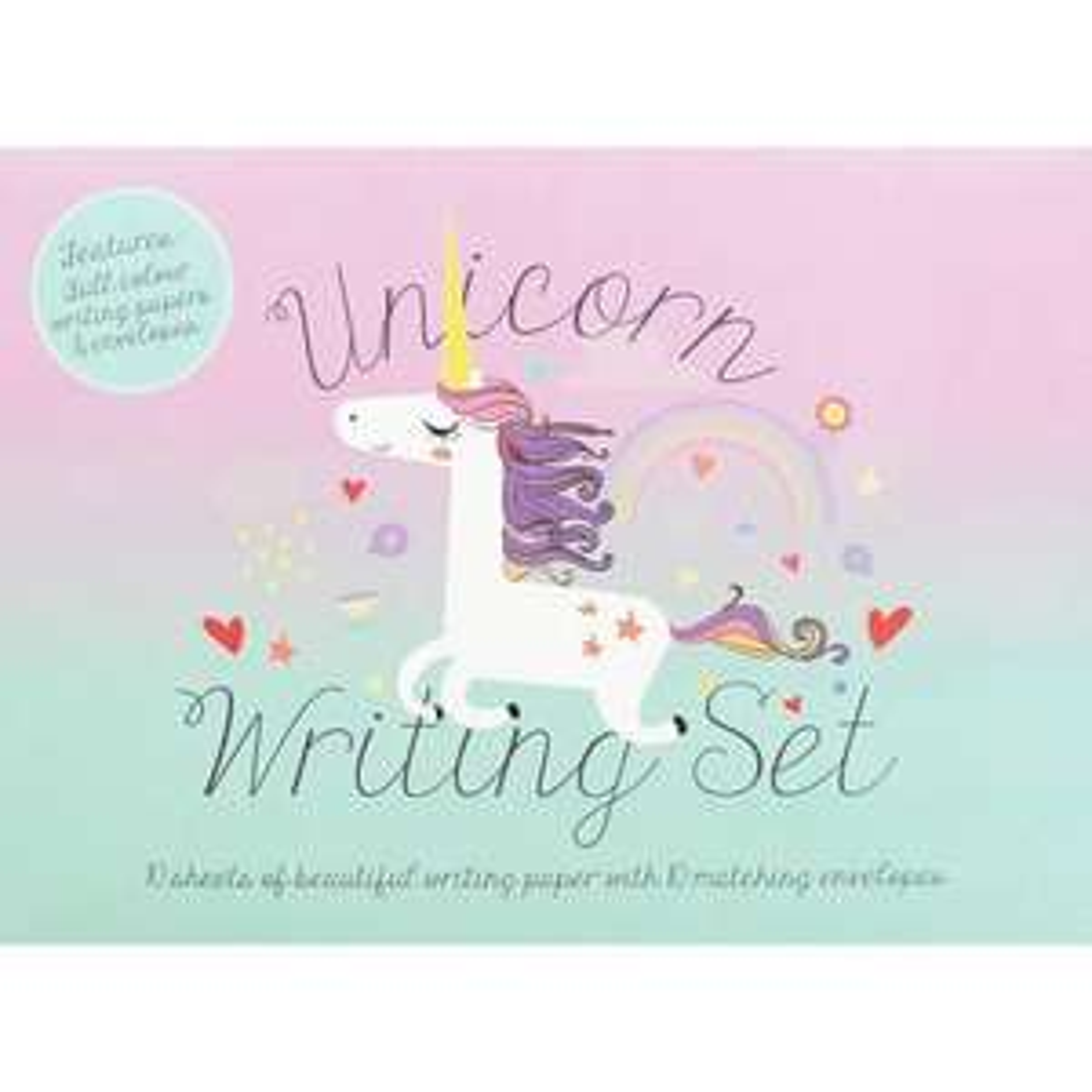 Unicorn Writing Set @ The Works Free C&C £1.20 With Code Provided
