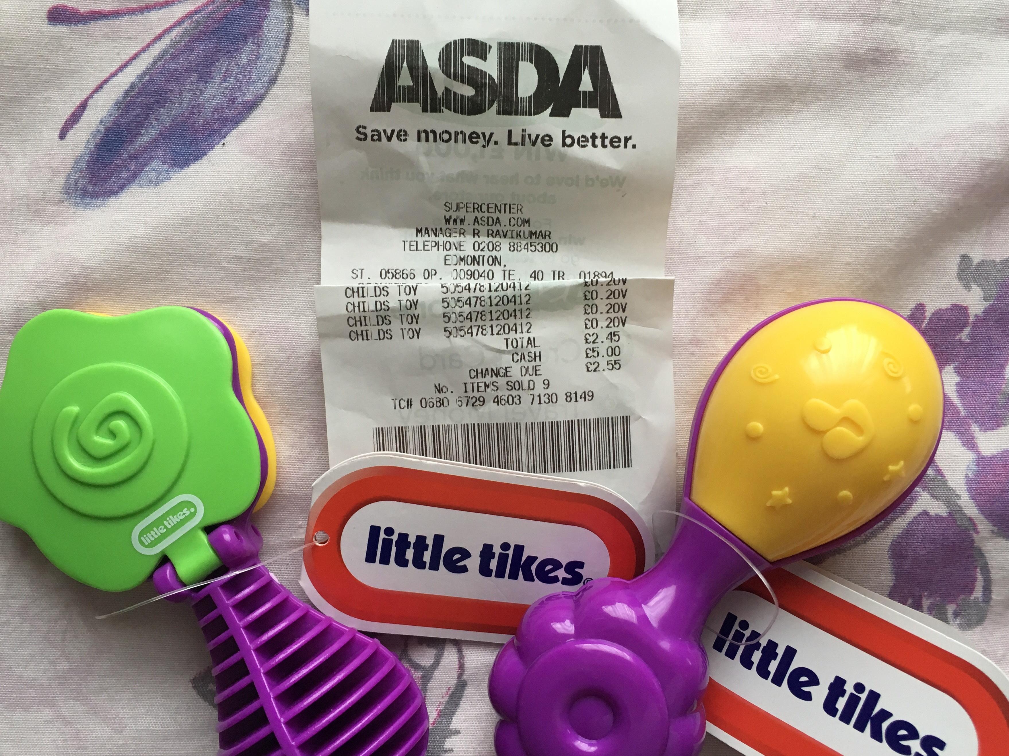 Little Tike baby instruments 20p instore Asda