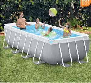 """Intex 13ft 1.5"""" (4m) Rectangular Prism Frame Pool with Filter Pump and Ladder - £149.89 @ Costco"""
