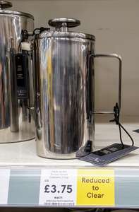 Fox & Ivy 3 cup double walled cafetiere - in silver Tesco Aston Reduced To Clear for £3.75 from £15