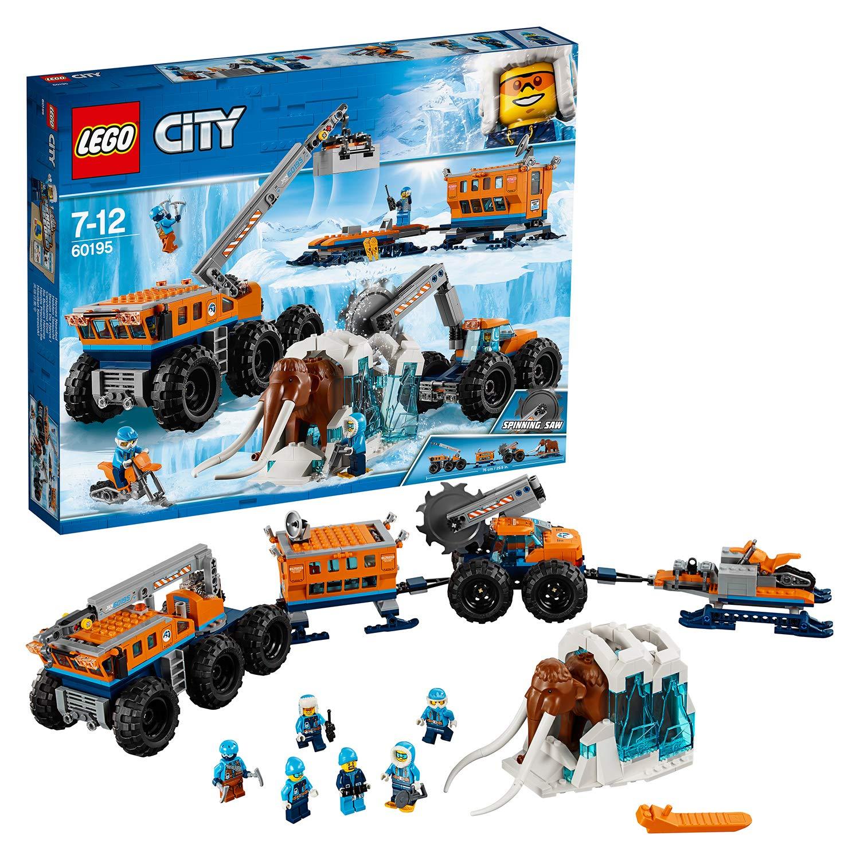 LEGO 60195 City Arctic Mobile Exploration Base Toy, Crane Vehicle Platform and Trailer £50.99 @ Amazon