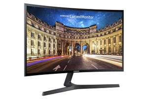 Samsung C27F398 27-Inch Curved LED Monitor - Black Gloss - HDMI, Displayport, £129.99 at Amazon