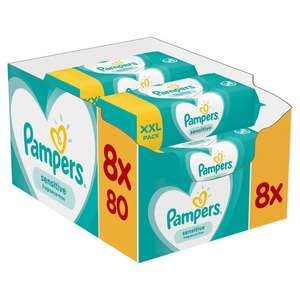 Pampers sensitive baby wipes 8 x 80 £6 Morrison's