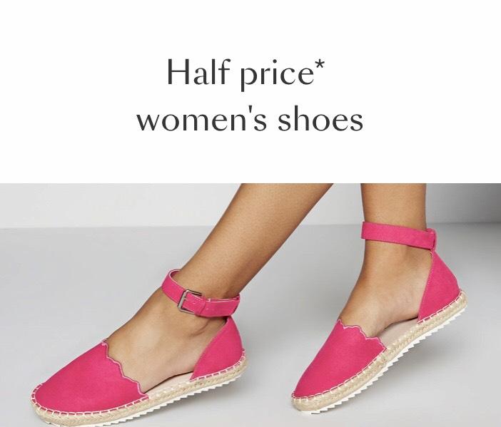 Half price women's shoes at Debenhams from £7.50