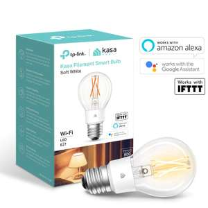 TP-Link Smart WiFi Filament Light Bulb, E27, 7W Dimmable White, £10.98 at Amazon (+£4.49 NP)