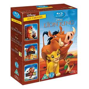 The Lion King 1-3 Blu Ray £12 @ Shop Disney + £1 Delivery