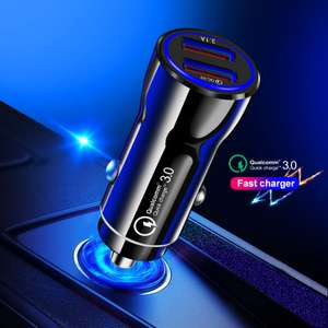 OLAF Car Charger Quick Charge 3.0 USB 2 Port Fast Charger £1.68 delivered using code @ Gearbest
