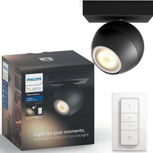 Philips Hue Buckram 5.5W 230V GU10 Spotlight + Dimmer £34.99 @ Argos - Free C&C