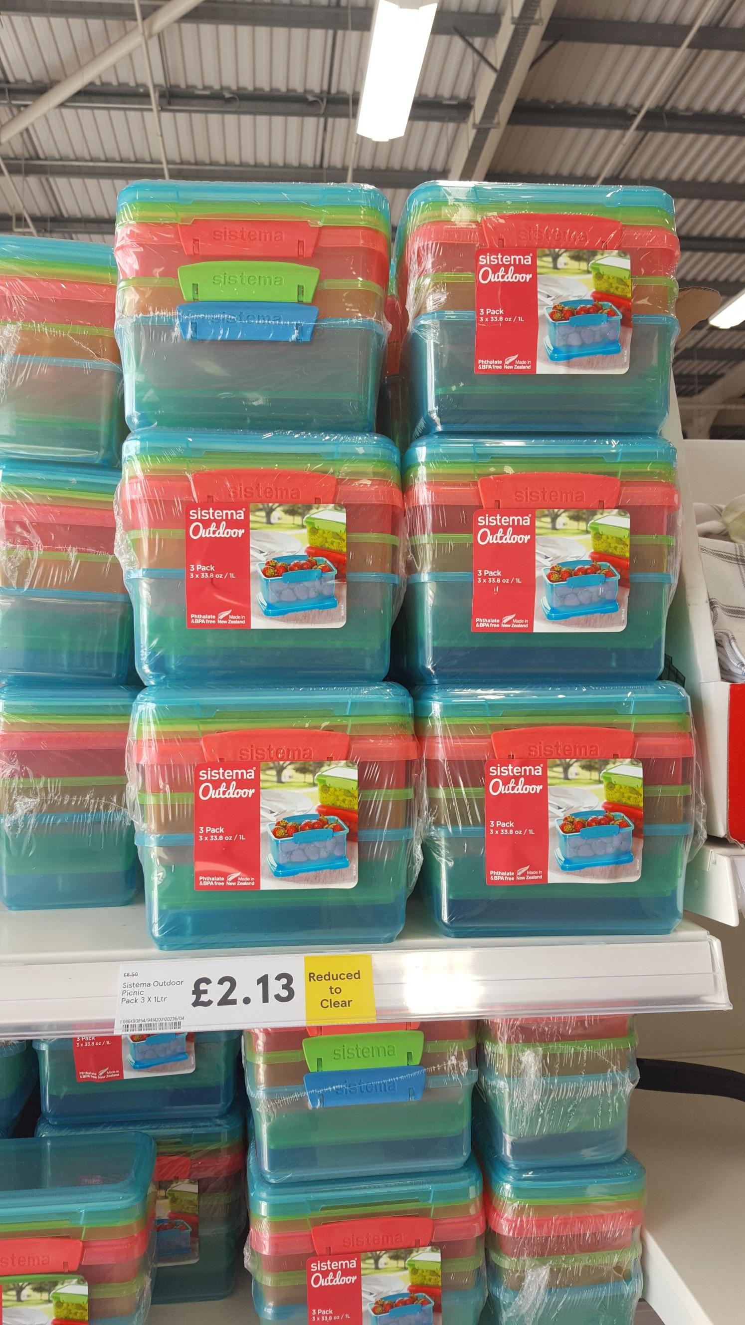 Sistema 3 x 1L Food Storage £2.13 @ Tesco Walkden