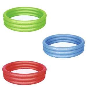 3 Ring Paddling Pool Assorted Colours - £1.50 / 5ft Paddling Pool - £4.50 / Quick Up Paddling Pool 8ft - £12 @ Homebase (Free C&C)