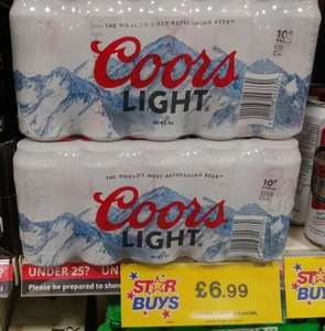 10 x 440ml cans of Coors Light £6.99 @ Quality Save in store