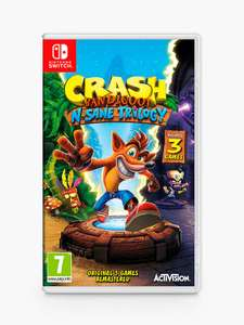 Crash Bandicoot N. Sane Trilogy, Switch £21.99 Delivered @ John Lewis & Partners (£19.99 + £2 Click & Collect Charge)