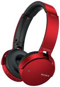 Sony MDR-XB650BT On-Ear Bluetooth Headphones - Red - Refurbished at eBay Argos - £32.99