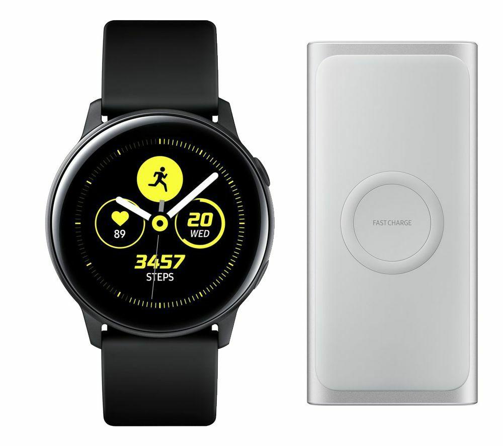 SAMSUNGGalaxy Watch Active & Wireless Power Bank Bundle - Black  @Curry's/PCWorld