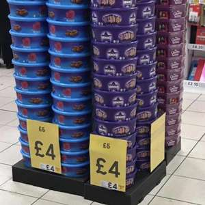 All Chocolate Tubs e.g. Roses 600g - £4 instore at Tesco