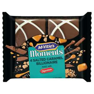McVities Moments Salted Caramel Billionaire / Rocky Road / White Chocolate & Raspberry Crunch £0.83 @ Morrisons