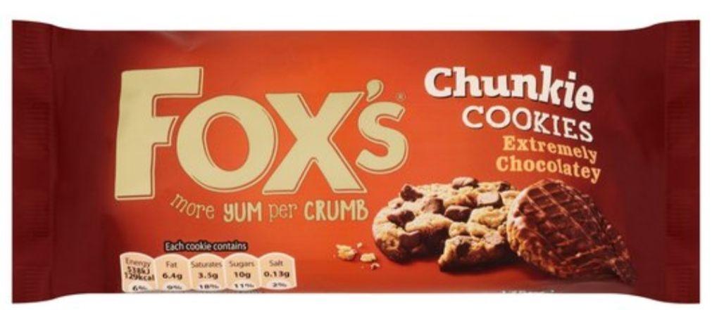 Fox's Chunky Cookies (All Varieties) 82p at Tesco