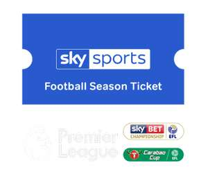 Earn £25 Cashback (Halifax cashback) when you join NOW TV and purchase the Football Season Ticket