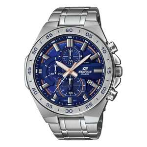CASIO Edifice Mens Analogue Quartz Watch with Stainless Steel Strap £65 at Amazon