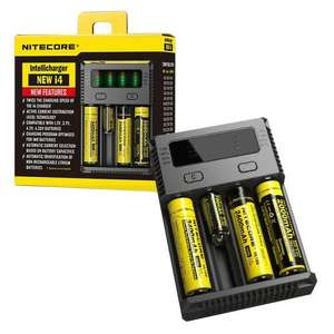 Nitecore i4 Intelligent Multi Battery Charger for Rechargeable AA, AAA and Li-ion/IMR/Ni-MH & Vape Batteries - £13.99 delivered @ 7dayShop