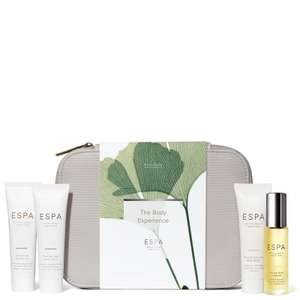 ESPA The Body Experience + 2 Free Samples now £21.00 + Free Delivery @ ESPA + more Skin Experience Gift Sets with 25% Off using code