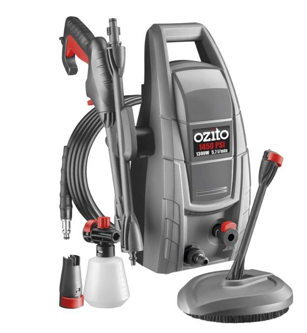 Ozito 1300w 1450PSI Pressure Washer £49 @ Homebase