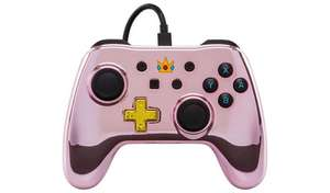 Wired Controller for Nintendo Switch - Chrome Princess Peach £11.99 at Argos c&c