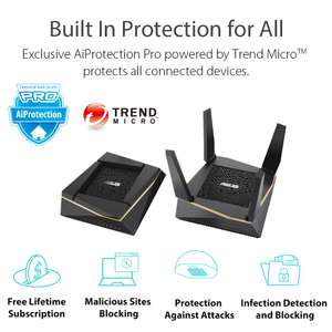ASUS AiMesh AX6100 Wi-Fi System (RT-AX92U 2-Pack) - £299.99 @ Amazon
