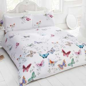 Rapport Home Mariposa Duvet Cover Set - Double £12.98 / King £15.98 / Single £10.98 Delivered @ Groupon