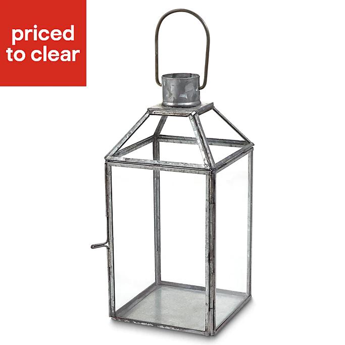 Blooma Galvanised Glass & steel Lantern £4 @ B&Q Free C&C