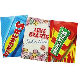 Swizzels Themed Exercise Books - Set of 3 £1.50 @ The Works Free C&C