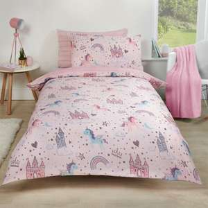 Unicorn Kingdom 2-in-1 Reversible Duvet Set £5.99 Single / £8.99 Double at OnlineHomeShop  (£1.99 Delivery - Free over £30)